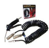 Air blow gun compressor with recoil hose steel nozzle compressed air dust blow PU 6x8mm (SK98210B) - SK98210B salidzini kurpirkt cenas